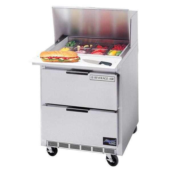 "Beverage-Air SPED27HC Elite Series 27"" 2 Drawer Refrigerated Sandwich Prep Table"