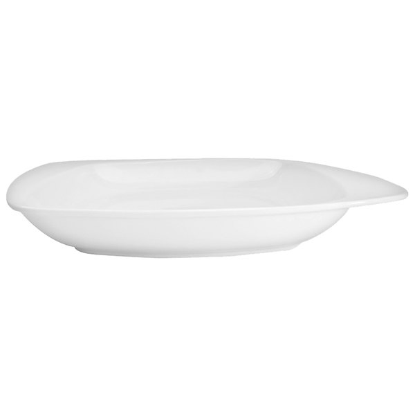 "CAC WH-105 White Pearl 10 1/2"" New Bone White Porcelain Soup Bowl / Plate - 12/Case"