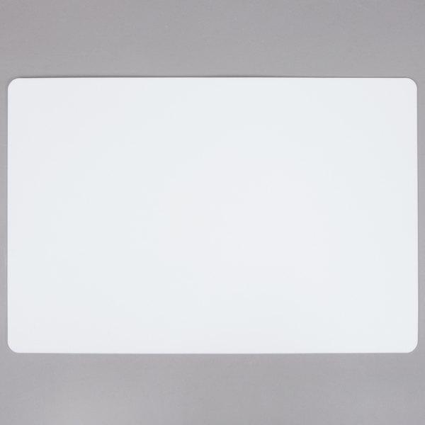 Tablecraft FCB1218W 12 inch x 18 inch White Flexible Cutting Board - 6/Pack