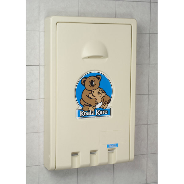 Koala Kare KB Vertical Baby Changing Station Table Cream - Koala care changing table