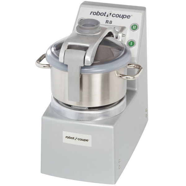 Robot Coupe R8 Vertical Food Processor with 8 Qt. Stainless Steel Bowl - 3 hp Main Image 1