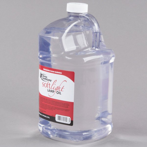 Sterno Products 30644 Soft Light 1 Gallon Bulk Lamp Fuel, Smokeless Liquid  Candle Paraffin Wax