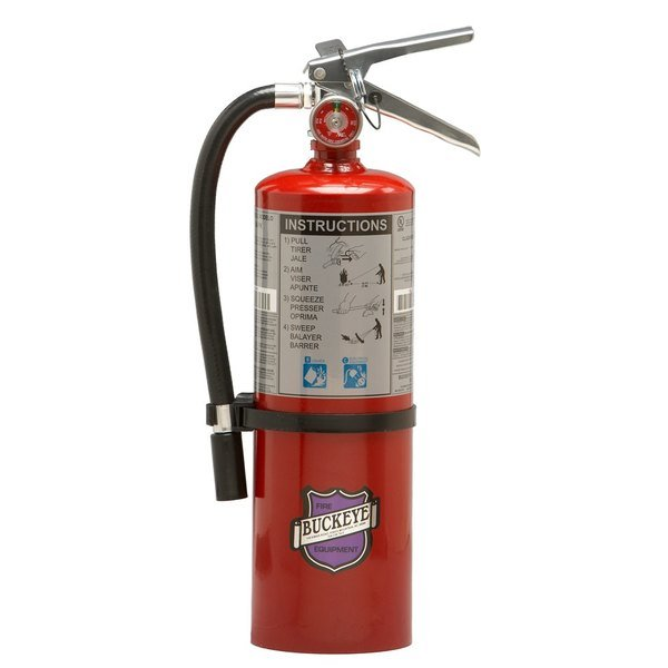 Buckeye 5 lb. Purple K Dry Chemical BC Fire Extinguisher - Rechargeable Untagged - UL Rating 20-B:C Main Image 1