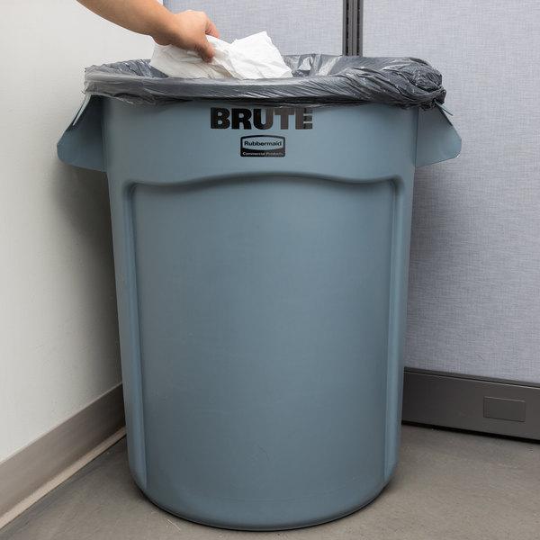 Rubbermaid FG263200GRAY BRUTE 32 Gallon Gray Trash Can