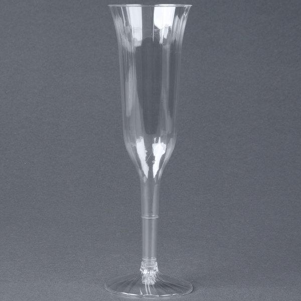 WNA Comet CCC5120 Classicware 5 oz. 2-Piece Clear Plastic Champagne Flute - 120/Case