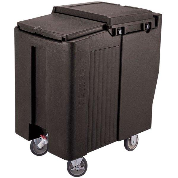 Cambro ICS125T110 SlidingLid™ Black Portable Ice Bin - 125 lb. Capacity Tall Model Main Image 1