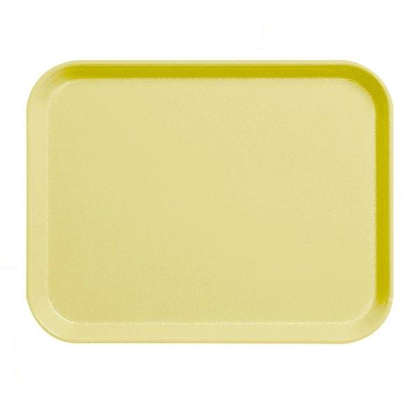 """Cambro 1520CL145 15"""" x 20"""" Yellow Camlite Tray - 12/Case"""