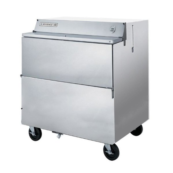 "Beverage-Air SMF34Y-1-S 34"" Stainless Steel 1-Sided Forced Air Milk Cooler"
