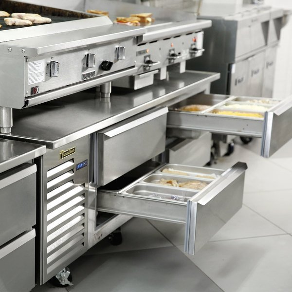 """Traulsen TE072HT 4 Drawer 72"""" Refrigerated Chef Base - Specification Line Main Image 3"""