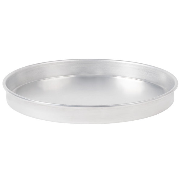 """American Metalcraft A4014 14"""" x 1"""" Standard Weight Aluminum Straight Sided Pizza Pan"""