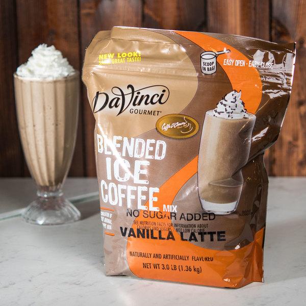 DaVinci Gourmet 3 lb. Ready to Use No Sugar Added Vanilla Latte Mix