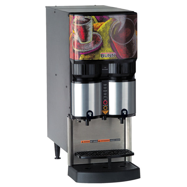 Bunn 36500.0001 LCA-2 PC Ambient Liquid Coffee Dispenser with Portion Control and Scholle 1910LX Connector - 120V