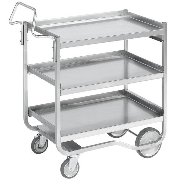 "Vollrath 97211 Knock Down Heavy-Duty Stainless Steel 3 Shelf Utility Cart - 38"" x 21"" x 42"""