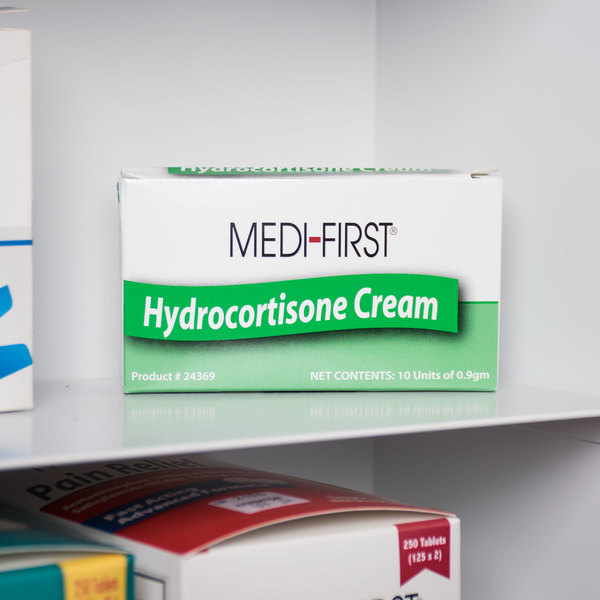 Medique 24369 Medi-First .9 g Hydrocortisone 1% Anti-Itch Cream Packet - 10/Box