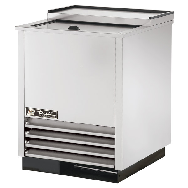 """True T-24-GC-S 24"""" Stainless Steel Glass and Plate Chiller"""