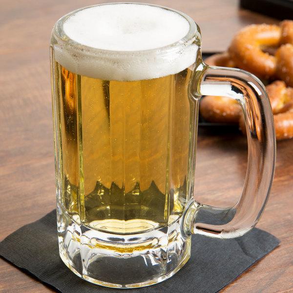 Libbey 5016 12 oz. Paneled Beer Mug - 12/Case Main Image 7