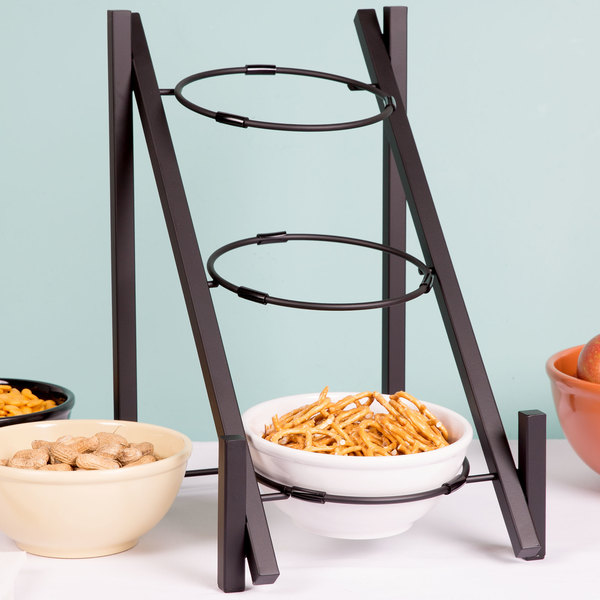 Cal-Mil 1137-8-13 Black One By One 3-Tiered Bowl Display Frame - 11 3/