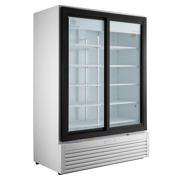 Beverage-Air LV45HC-1-W LumaVue 52 inch White Refrigerated Glass Door Merchandiser with LED Lighting
