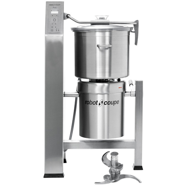 Robot Coupe R45T Vertical Food Processor with 47 Qt. Stainless Steel Bowl - 13 1/2 hp