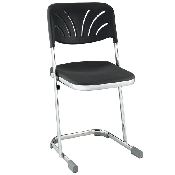 "National Public Seating 6618B Elephant Z-Stool with Backrest - 18"" High"
