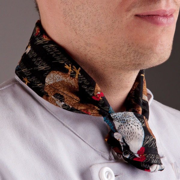 """36"""" x 15"""" Rooster Patterned Chef Neckerchief / Bandana"""