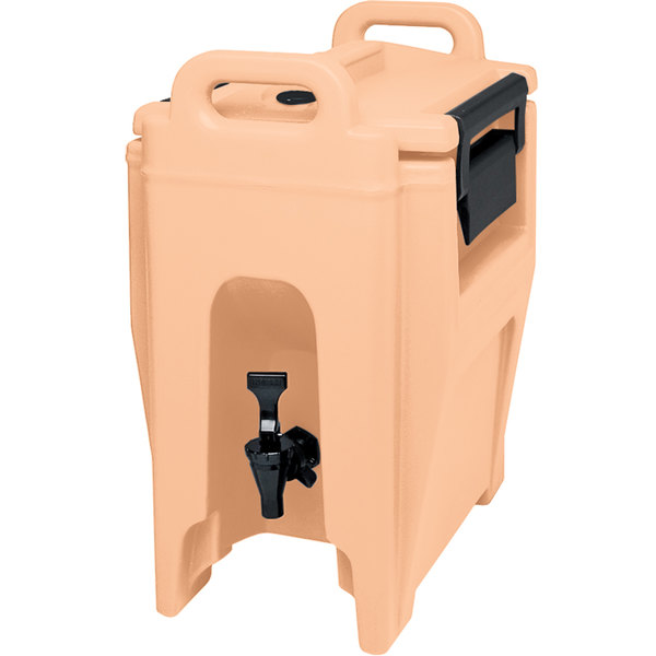 Cambro UC250157 Ultra Camtainers® 2.75 Gallon Coffee Beige Insulated Beverage Dispenser Main Image 1