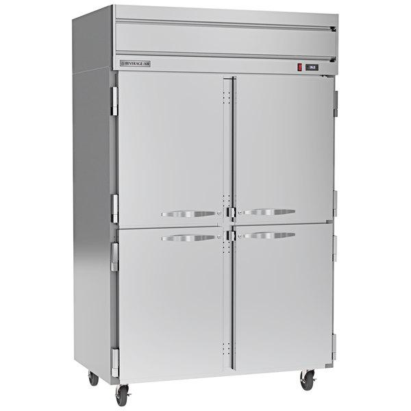 "Beverage-Air HRP2-1HS Horizon Series 52"" Solid Half Door Reach-In Refrigerator Main Image 1"