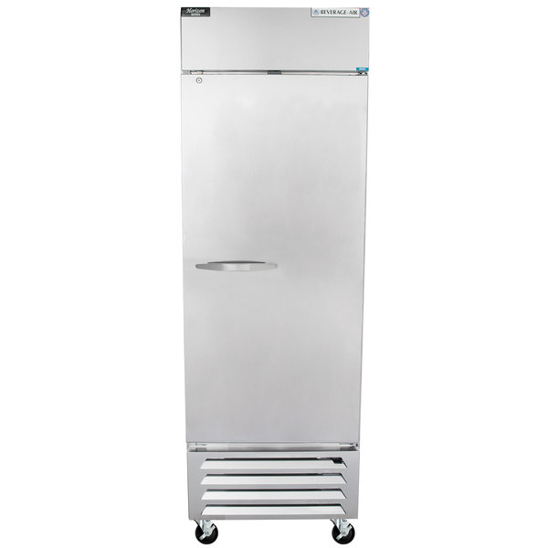 "Beverage-Air HBF23-1-S Horizon Series 27"" Solid Door Reach-In Freezer with LED Lighting"