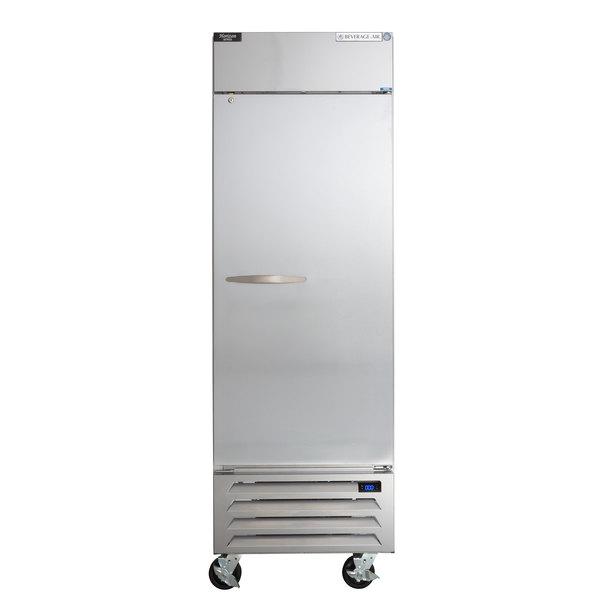 "Beverage-Air HBF23-1-S Horizon Series 27"" Solid Door Reach-In Freezer with LED Lighting Main Image 1"