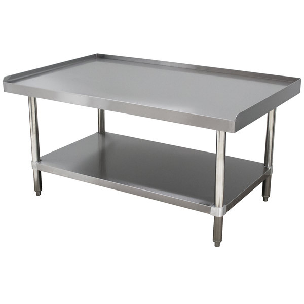 "Advance Tabco ES-306 30"" x 72"" Stainless Steel Equipment Stand with Stainless Steel Undershelf"