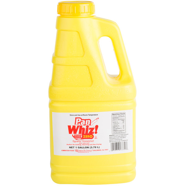 Pan Whiz Zero Trans Fat 1 Gallon Liquid Butter Alternative - 3/Case
