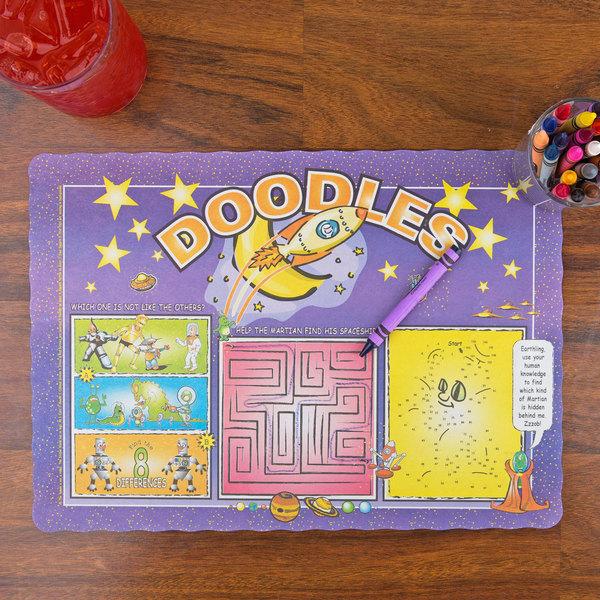 Doodles Children's Interactive Placemat - 1000/Case