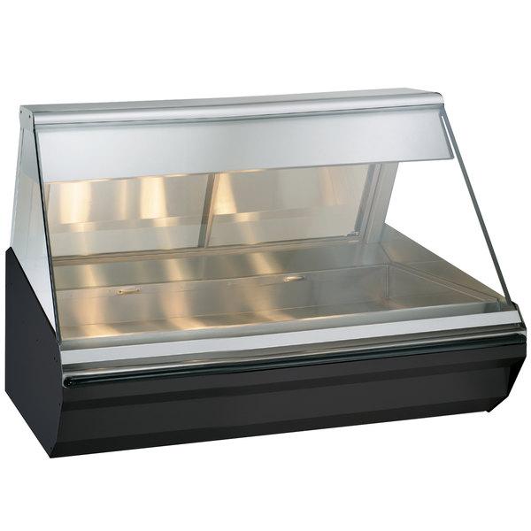 "Alto-Shaam EC2-48/P BK Black Heated Display Case with Angled Glass - Self Service 48"" Main Image 1"