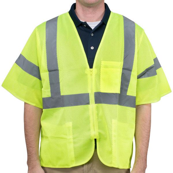 Lime Class 3 High Visibility Safety Vest - XXXL