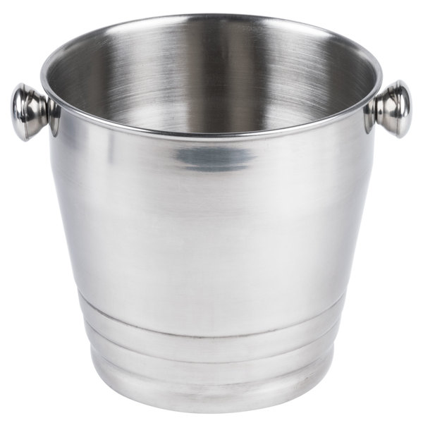 "8 1/4"" Heavy Weight Stainless Steel Wine / Champagne Bucket - 4 Qt. Main Image 1"