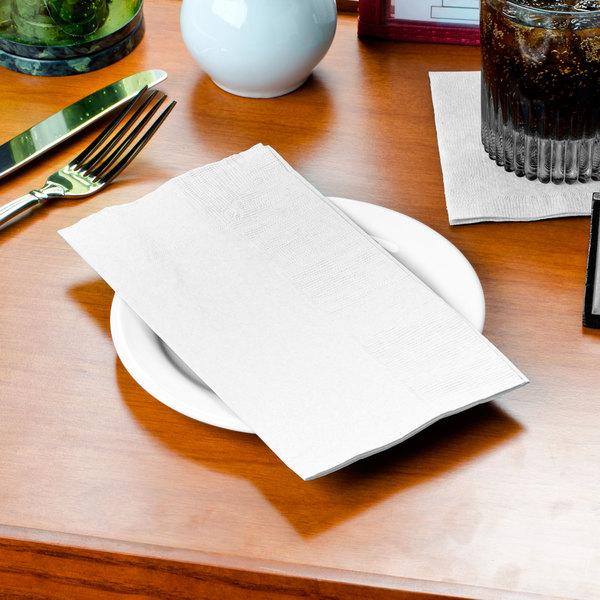 "Choice 15"" x 16 3/4"" White 2-Ply Customizable Dinner Napkin - 3000/Case"