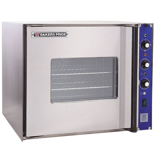 Bakers Pride COC-E1 Cyclone Series Single Deck Half Size Electric Convection Oven, Left Hand Hinge - 208V, 3 Phase, 9500W