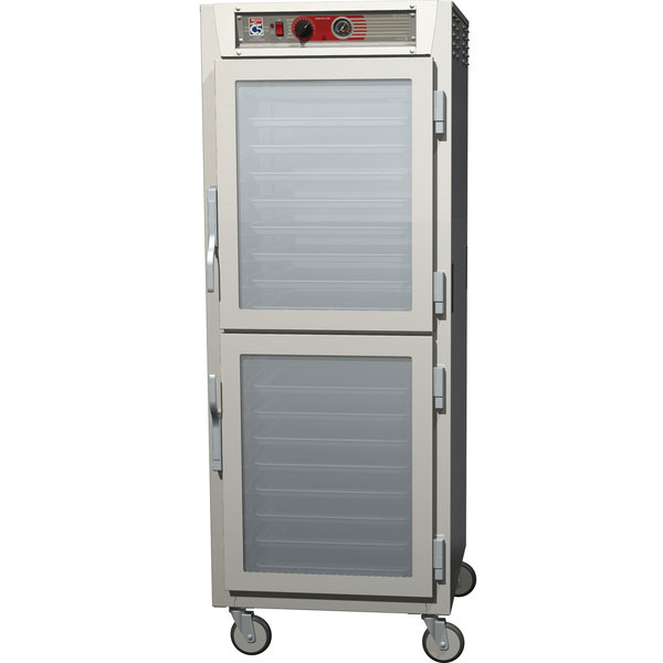 Metro C569-NDC-UPDS C5 6 Series Full Height Reach-In Pass-Through Heated Holding Cabinet - Clear / Solid Dutch Doors