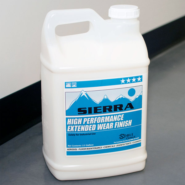 Sierra by Noble Chemical 2.5 gallon / 320 oz. High Performance Extended Wear Finish - 2/Case