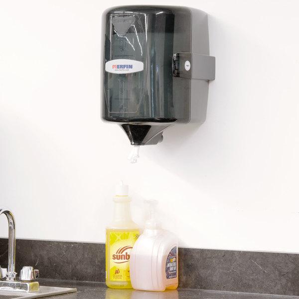Merfin 51002 Smoke / Grey Center Pull Towel Dispenser Main Image 5
