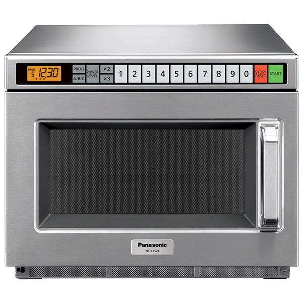 Panasonic NE-17523 Stainless Steel Commercial Microwave Oven - 208/230-240V, 1700W