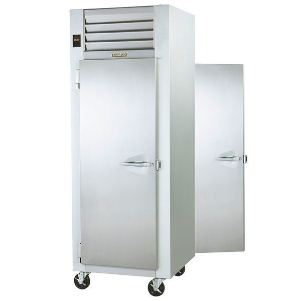 Traulsen G14314P 1 Section Pass-Through Solid Door Hot Food Holding Cabinet with Left Hinged Doors Main Image 1