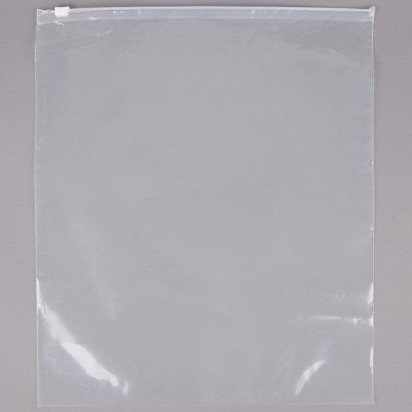 """Plastic Food Bag 12"""" x 15"""" Slide Seal - 250/Case"""