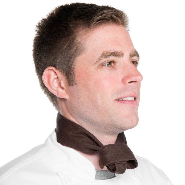 "37"" x 14"" Brown Chef Neckerchief / Bandana"