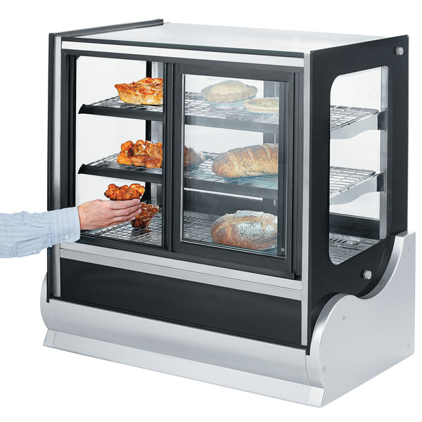"""Vollrath 40886 36"""" Cubed Refrigerated Countertop Display Cabinet with Front Access Main Image 2"""