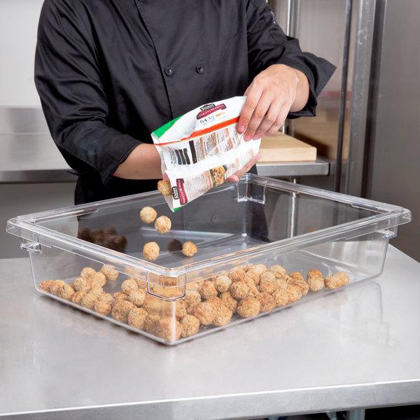 """Cambro 18266CW135 Camwear 18"""" x 26"""" x 6"""" Clear Polycarbonate Food Storage Box"""