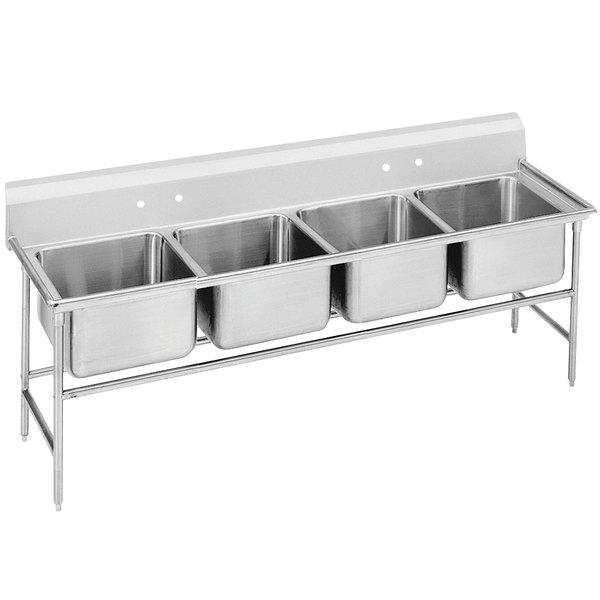 """Advance Tabco 94-44-96 Spec Line Four Compartment Pot Sink - 113"""""""