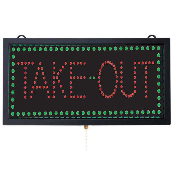 Aarco TAK12M Take Out LED Sign Main Image 1