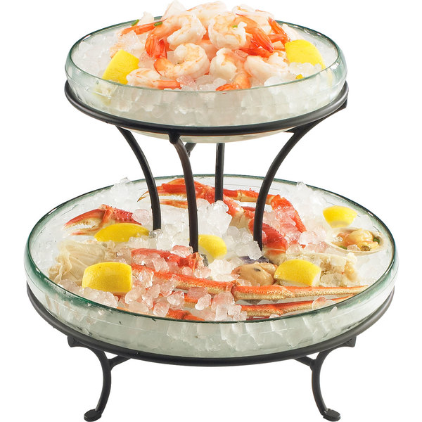 "Cal-Mil 1542-13 Torre Redondo 14"" x 12 1/2"" Glass Display Stand Main Image 1"