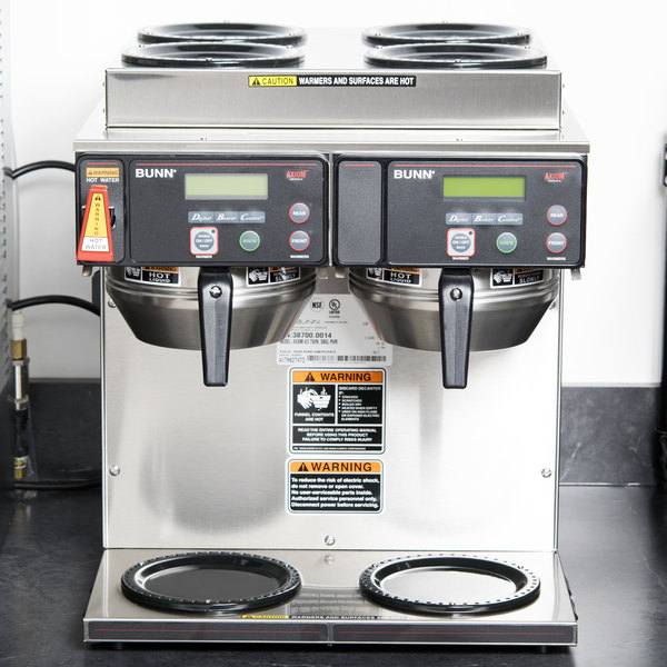 Bunn 38700.0014 Axiom 4/2 Twin 12 Cup Automatic Coffee Brewer with 4 Upper and 2 Lower Warmers - 120/208-240V